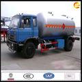 Camión tanque de glp, de almacenamiento de gas del tanque del carro, 4x2 sistema impulsado.