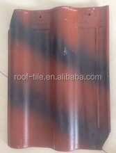 300X400mm India best selling high quality double shade glossy glazed ceramic roof tile