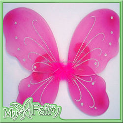 Pink butterfly wings children toys Small Plastic Angel Wings for Kids