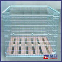 Wire Pallet Cage with wooden base