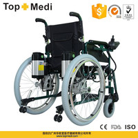 Rehabilitation therapy topmedi battery power 4 wheel electric wheelchair in manual and electric operation