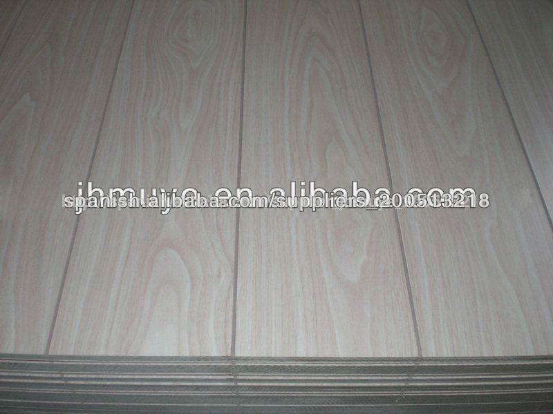 Tablero del pvc ranurado madera contrachapada mdf otras - Madera contrachapada precio ...