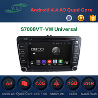 Android 4.4 dual-core car dvd player with BT/WIFI/RADIO/GPS for VW Universal