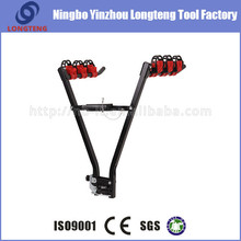 three bike carrier iron hitch mounted bike rack