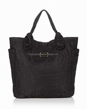 Promotional black canvas shoulder bag