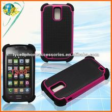 Cell Phone Case For Samsung Hercules Galaxy S2 T989 Combo Mobile Phone Design Hybrid Mesh Protector Case