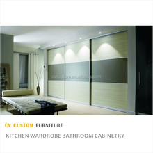 customized melamine bedroom wardrobe furniture with mirror wood wardrobe modern bedroom wardrobe