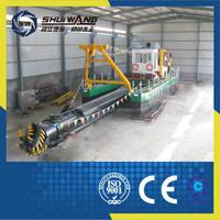 Chinese manufacturer river sand mining dredger/Huge Volume gold dredging boat on sale