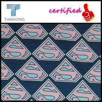 custom superman batman super hero comic charactor reactive dyed print cotton twill sateen fabric for kid's sleepwear