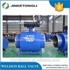 all welded ball valve with manual gear box DN450