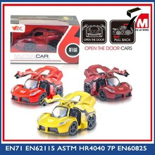 Hot item metal open the door car model pull back model cars diecast