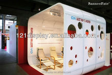 Metal Reusable Popular exhibition booth for modular frame