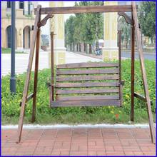 fashion outdoor wood hanging garden rocking chair swing
