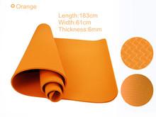 Eco - friendly Manufacturer TPE folding Yoga Mat, colorful Yoga Accessory