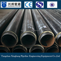 ISO urethane foam thermal insulation materials hdpe pipe coated poly pipe for hot water supply