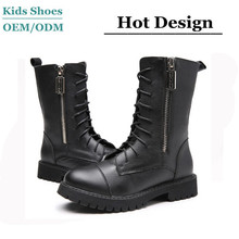 China Manufacture 2014 New style high quality leather horse boots for women