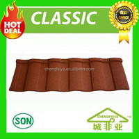 30years warranty terracotta red stone coated metal roof tile