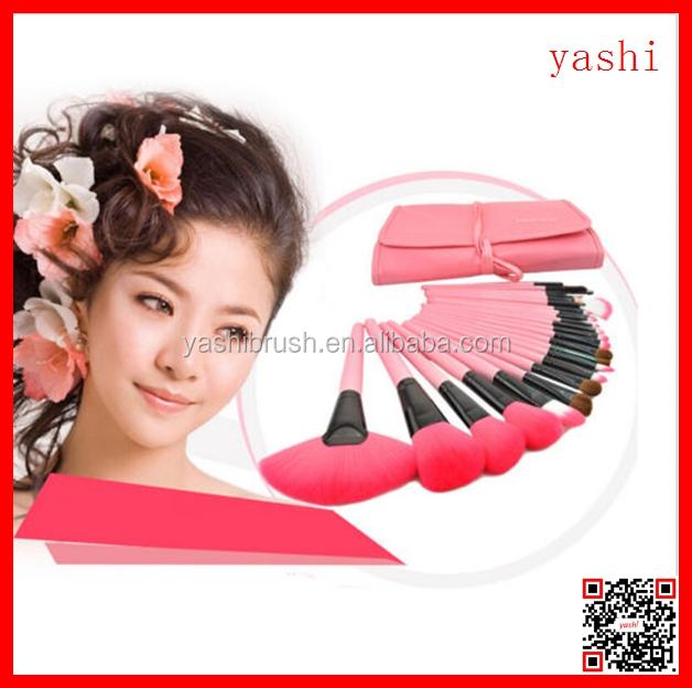 2016 새로운 스타일 달콤한 핑크 색상 화장품 24 개 메이크업 브러쉬 키트 세트 <span class=keywords><strong>YASHI</strong></span>