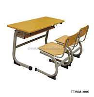 Wholesale school furniture desk and chair/Student desk and chair/Double classroom furniture