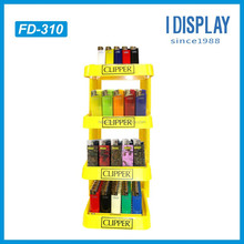 retail store cheap cardboard floor display stand for clipper lighter