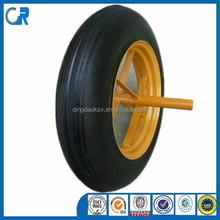 Professional factory cheap 14x4 wheel barrow solid rubber wheel
