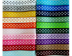 SWISS DOTS 3/8 Grosgrain Ribbons - Each of 20 Different Colors Ribbons belt webbing