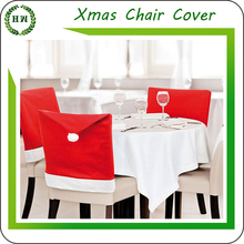 Wholesale and Retail Christmas Dining Chair Cover, Hongway Santa claus seat cover for Xmas decoration