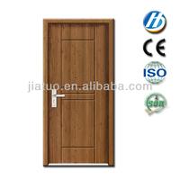 M-66 small exterior door french door with side panel glass insert solid wood door