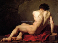 Custom-made Availalbe Portrait Pictures Male Nude Oil Painting