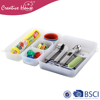 Durable Handmade Eco-friendly 5 Compartment PP Plastic Kitchen Storage Box Drawer Organizer Set of 5
