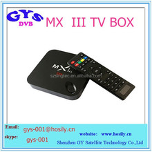 hd satellite receiver MXIII tv box Android 4.4 mx3 Amlogic S802 Quad Core android tv box 4k decoding ,Octa GPU 2G 8G
