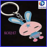 Fashionable Popular Arts And Crafts Gift Custom Metal Mini Rabbit Doll Key Holder