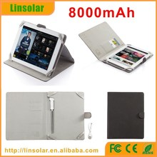 latest innovative products pu leather 8000mAh universal backup power battery case for ipad tablet