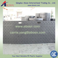 Plastic Temporary Protective Floor Coverings HDPE ground protection mat