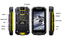 Snopow M8 IP68 waterproof 4.5 inches quad core with NFC walkie talkie android yxtel mobile phone