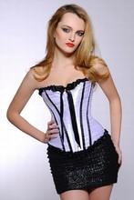 2015 Alibaba China Supply elegant design lace trim bodyshaper sexy lace ruffle corsets factory price white color #MH30-1