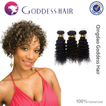 Hot selling hair extension 5A unprocessed afro kinky curly Brazilian crochet hair extension
