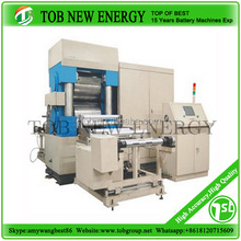 Battery electrode rolling press machine for rechargeable lithium ion batteries and cells
