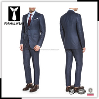 bespoke 100% wool navy half canvas office uniform suits designs 2015