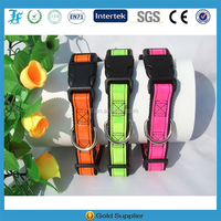 reflective fluorescent pet dog collar