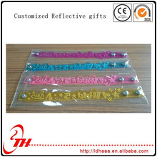 factory promotional print pvc band reflective gifts en13356