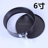 6 inch non stick Carbon Steel Cake Baking Bakeware Moulds Tins Spring Form Pan cake mold mould