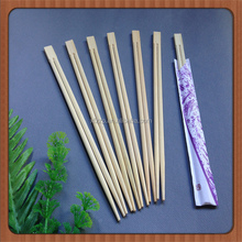 Manufacturer Twin Bamboo Disposable Chopsticks With Paper Packed