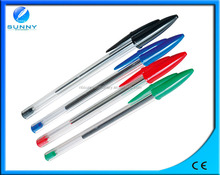top selling slim bic ball pen,stick ball pen for promotion