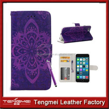 For iPhone 6 phone Case Colorful pu Leather Wallet Magnet Design Flip Case for Apple iPhone 6