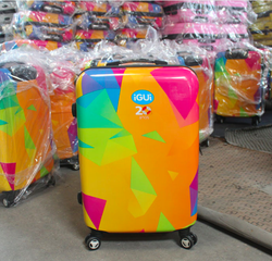Brazil Colorful luggage girls trolley luggage ABS luggage Polyester lining luggage Personalized luggage