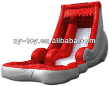 new design red color backyard inflatable water slides, small indoor inflatable slide