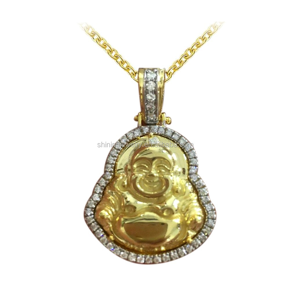 Hip hop mens iced out lab diamond laughing buddha pendant buy hip hop mens iced out lab diamond laughing buddha pendant aloadofball Image collections