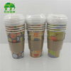 16oz Coffee paper cups with sleeve and lids shrink pack