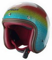 2015 new rainbow open face helmet half face helmet colorful classical and vintage design